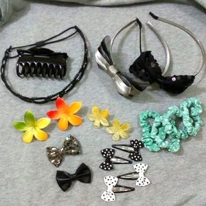 💖2/$30💖 NEW 18pc Hair accessories bundle
